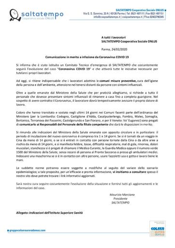 Comunicazione Coronavirus 02.02.2020